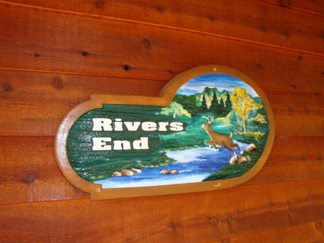 Rivers End sign